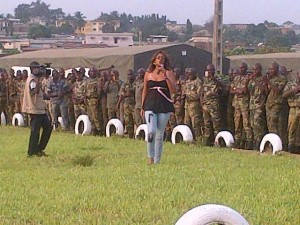 Museba sings for Peace in Abidjan military Camp 2013